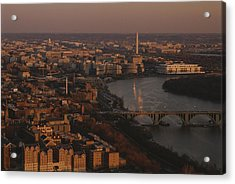 Aerial View Of Washington, D.c Acrylic Print by Kenneth Garrett