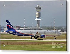 Aeroflot - Russian Airlines Airbus A321-211 - Vq-bei Acrylic Print