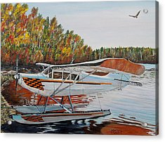 Acrylic Print featuring the painting Aeronca Super Chief 0290 by Marilyn  McNish