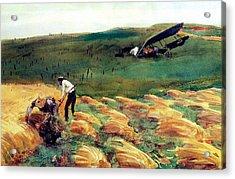 Aeroplane - Crashed Acrylic Print by John Singer Sargent
