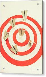 Aeroplane Target Pin Board Acrylic Print