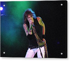 Aerosmith - Steven Tyler -dsc00138 Acrylic Print by Gary Gingrich Galleries