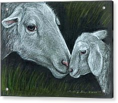 Affectionate Nuzzle Acrylic Print by Linda Nielsen