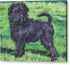 Acrylic Print featuring the painting Affenpinscher by Lee Ann Shepard
