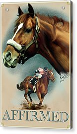 Affirmed With Name Decor Acrylic Print