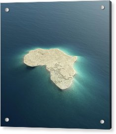 Africa Conceptual Island Design Acrylic Print by Johan Swanepoel