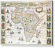 Africa Nova Map Acrylic Print