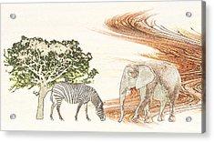Africa Acrylic Print by Sharon Lisa Clarke