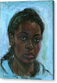 Acrylic Print featuring the painting African American 15 by Xueling Zou