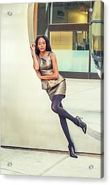 African American Business Woman Fashion In New York Acrylic Print