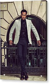 African American Businessman Working In New York Acrylic Print