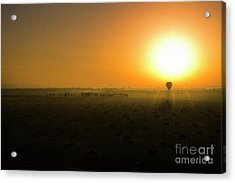 Acrylic Print featuring the photograph African Balloon Sunrise by Karen Lewis