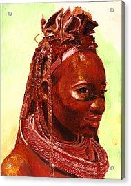 African Beauty Acrylic Print by Enzie Shahmiri