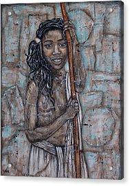 African Beauty I Acrylic Print by Rain Ririn