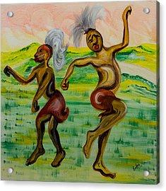 African Dance Acrylic Print by Emma Kinani
