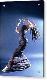 African Dancer Left View Acrylic Print by Gordon Becker