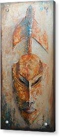 African Death Mask Acrylic Print