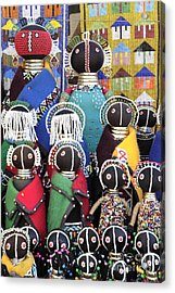 African Dolls Acrylic Print by Neil Overy