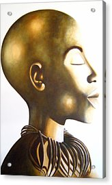 African Elegance Sepia - Original Artwork Acrylic Print