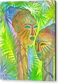 African Forest Queens Acrylic Print by Jennifer Baird