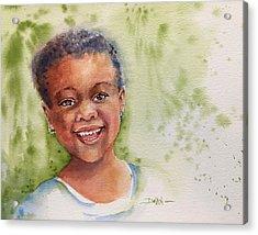 African Girl Acrylic Print