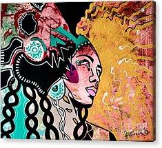 African Gypsy Acrylic Print by Amy Sorrell