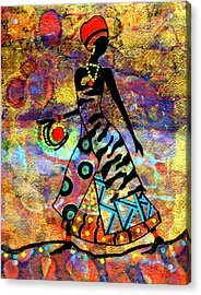 African Healer New Color Acrylic Print