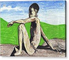 African Hunter Acrylic Print by Jean Haynes