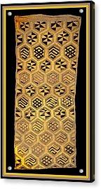 Acrylic Print featuring the digital art African Kuba Cloth Print by Vagabond Folk Art - Virginia Vivier