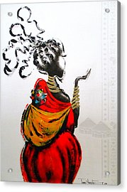 African Lady And Baby Acrylic Print