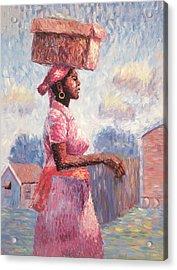 African Lady Acrylic Print