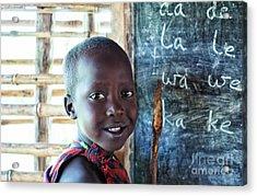 Maasai School Child Acrylic Print