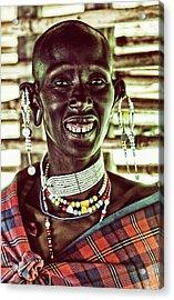 African Maasai Teacher Acrylic Print