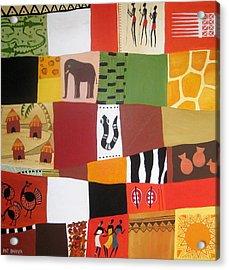 African Matrix Acrylic Print by Pat Barker