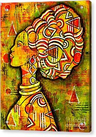 Acrylic Print featuring the painting African Queen by Julie Hoyle