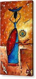 African Queen Original Madart Painting Acrylic Print
