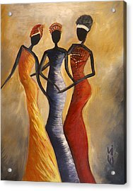 African Queens Acrylic Print by Evon Du Toit