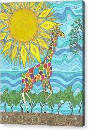 African Rainbow Acrylic Print
