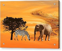 African Safari Acrylic Print by Sharon Lisa Clarke