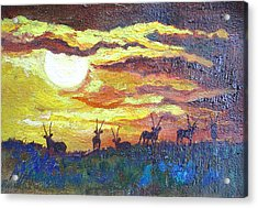African Sunset - Minature Acrylic Print
