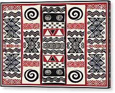 African Tribal Ritual Design Acrylic Print