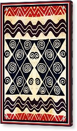 African Tribal Textile Design Acrylic Print