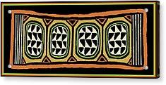Acrylic Print featuring the digital art African Tribal Textile by Vagabond Folk Art - Virginia Vivier