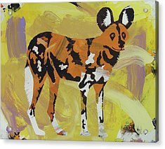 Acrylic Print featuring the painting African Wild Dog by Candace Shrope