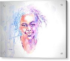 Africani Girl Acrylic Print