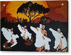 Afro Carib Dance Acrylic Print