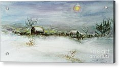 After A Heavy Fall Of Snow Acrylic Print