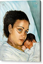 After Birth Jacina And Javon Acrylic Print by Marlene Book