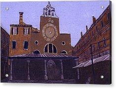 After Campo San Giacometto Acrylic Print by Hyper - Canaletto