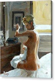 After Her Bath Acrylic Print by Ann Radley